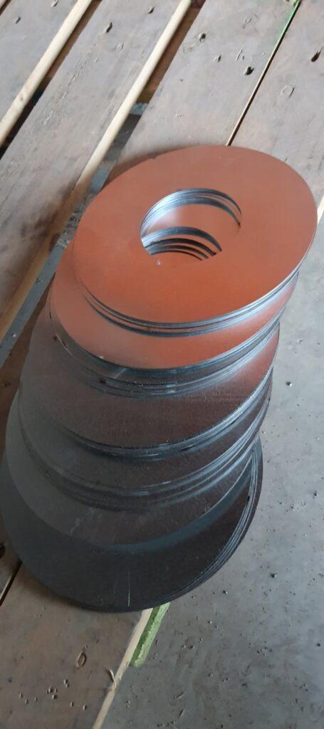 1 mm galvaniz metal flanş kesimleri